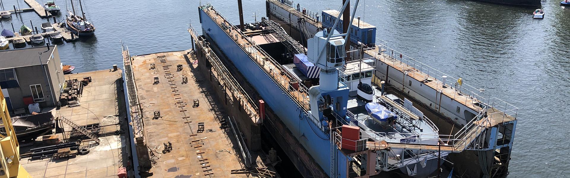 60m long – 11m wide drydock